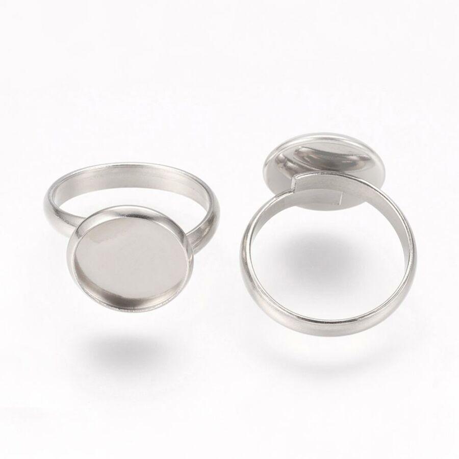Nemesacél tányéros gyűrűralap (12mm)