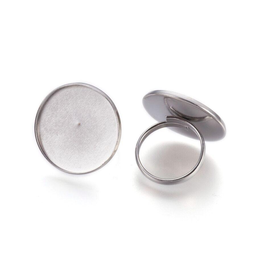 Nemesacél tányéros gyűrűralap (25mm)