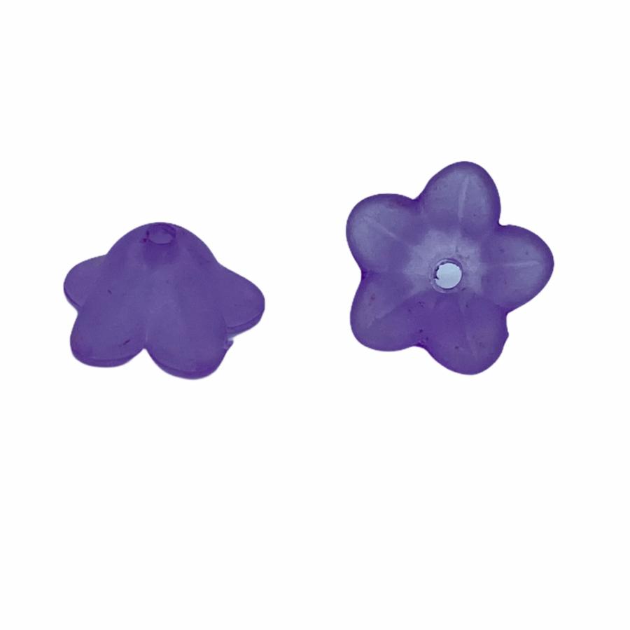 Világos lila színű harangvirág (13x7mm)