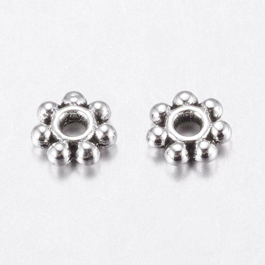 10db Antikolt ezüst virág alakú köztes