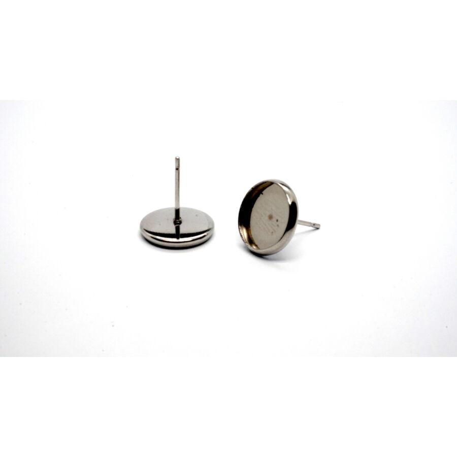 Nemesacél bedugós fülbevalóalap (14mm)
