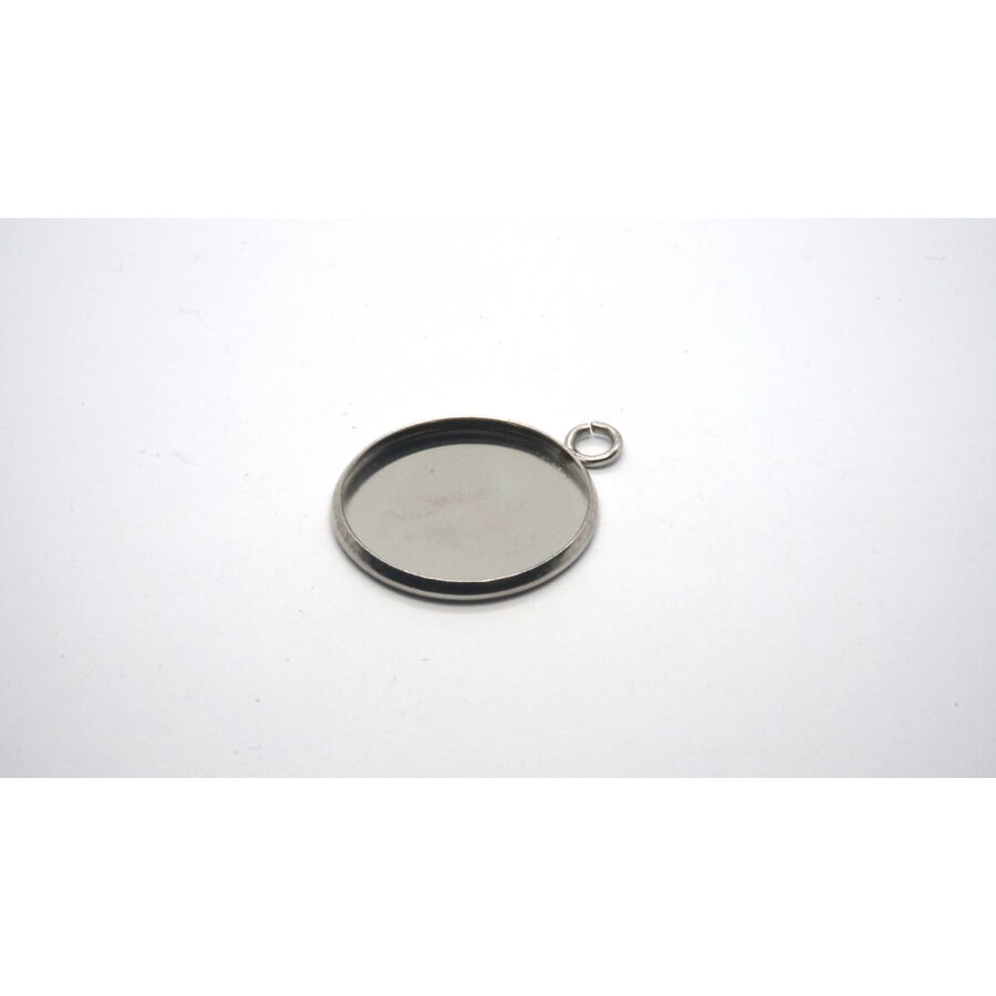 Nemesacél medálalap (20mm)