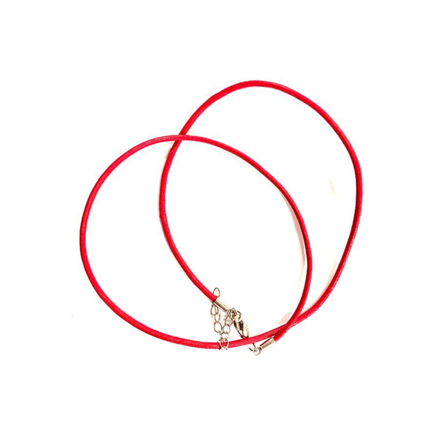 Piros bőr nyaklánc alap