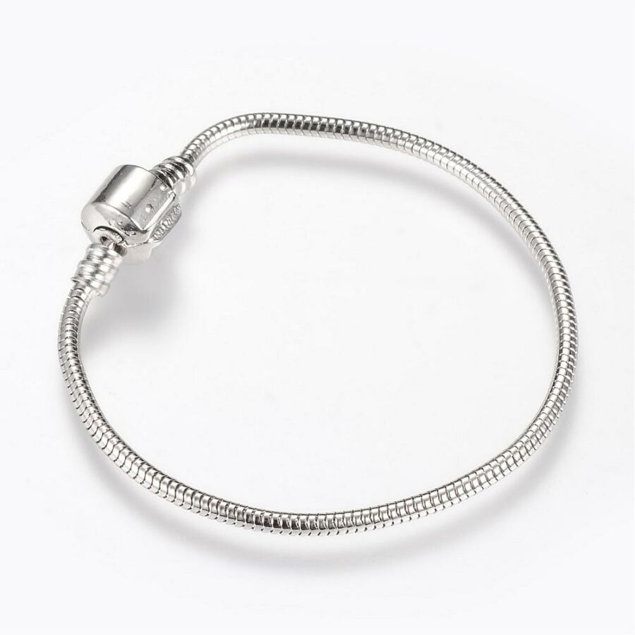 Antikolt ezüst színű karkötő pandora gyöngyökhöz (17cm)