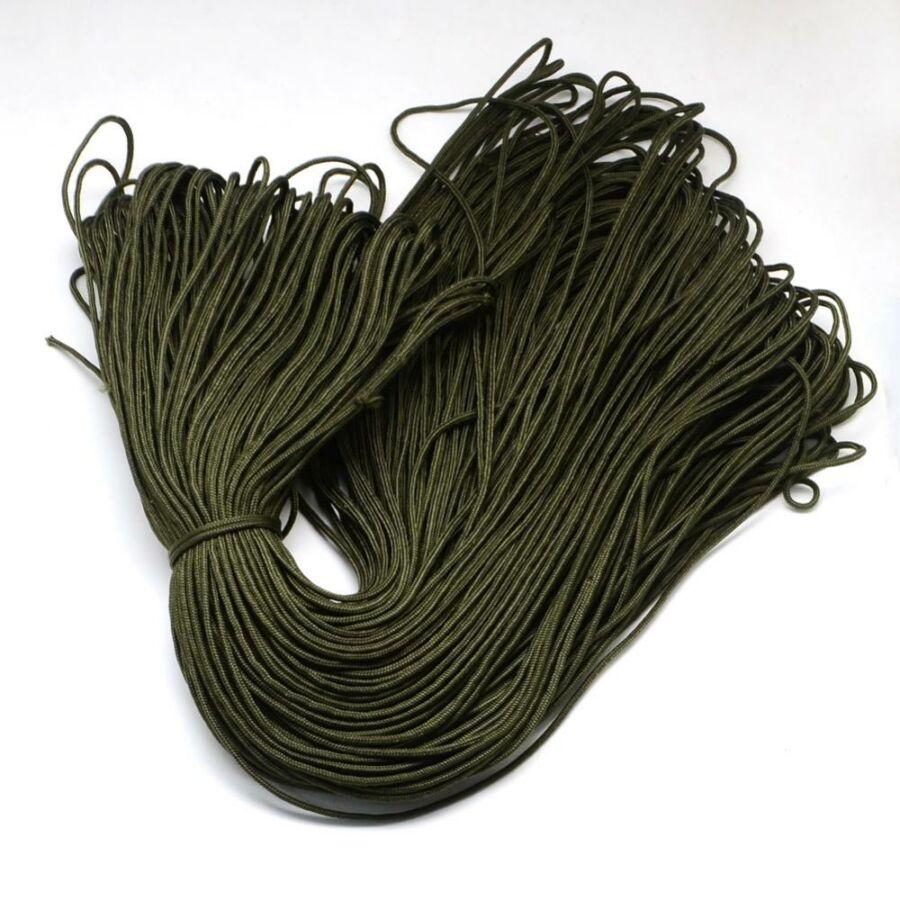 Sötét olivazöld paracord zsinór (2mm)