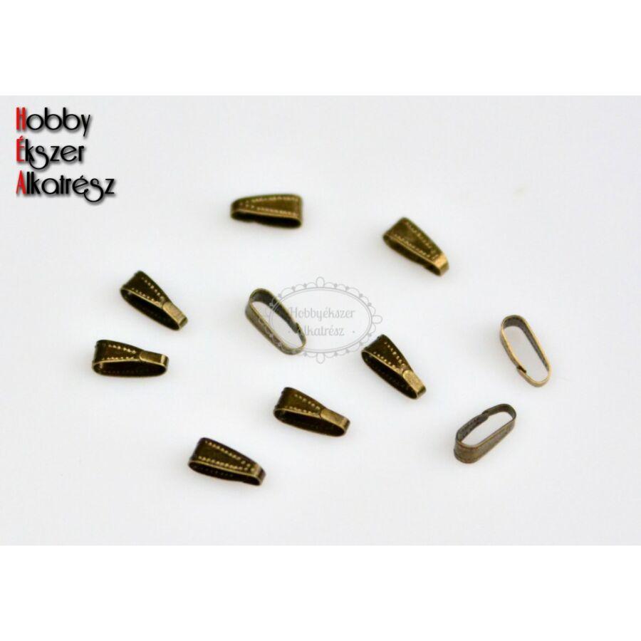 10db bronz színű medáltartó (10x4mm)