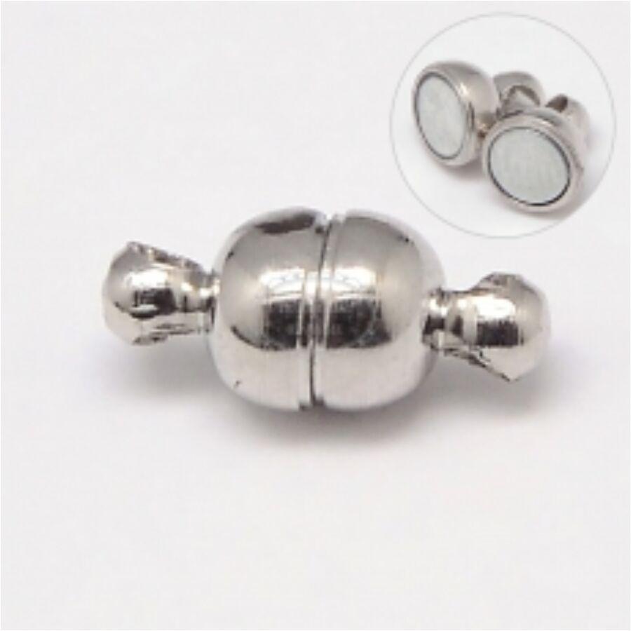 Antikolt ezüst színű mágneskapocs (14x8mm)