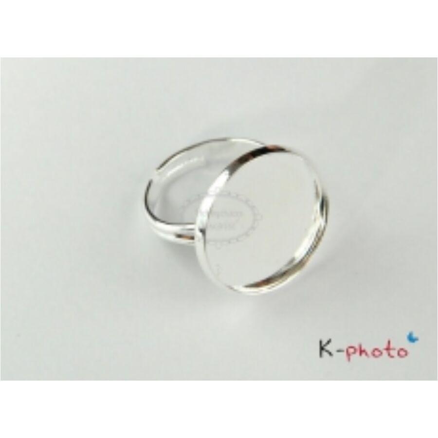 Antikolt ezüst színű gyűrűalap (18mm)