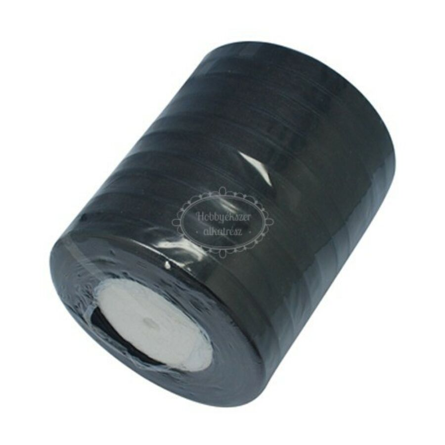 Fekete organza szalag (10mm)