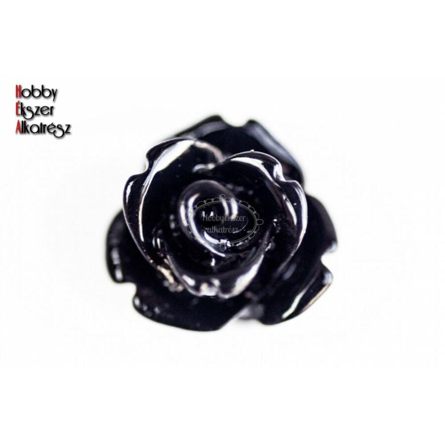 Fekete színű műgyanta virág (10mm)