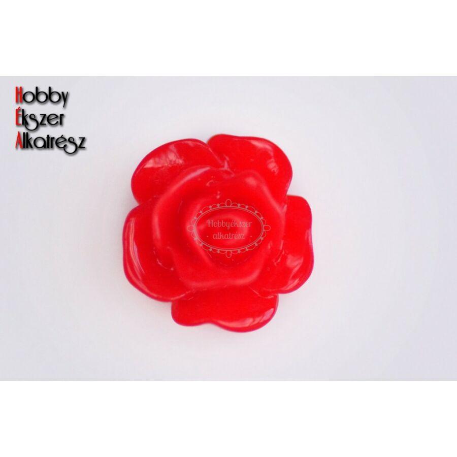 Piros színű műgyanta virág (10mm)