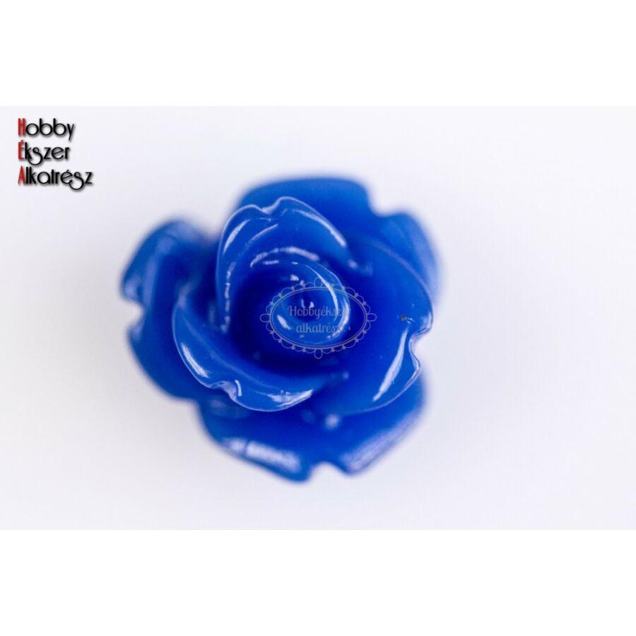 Sötét kék színű műgyanta virág (10mm)
