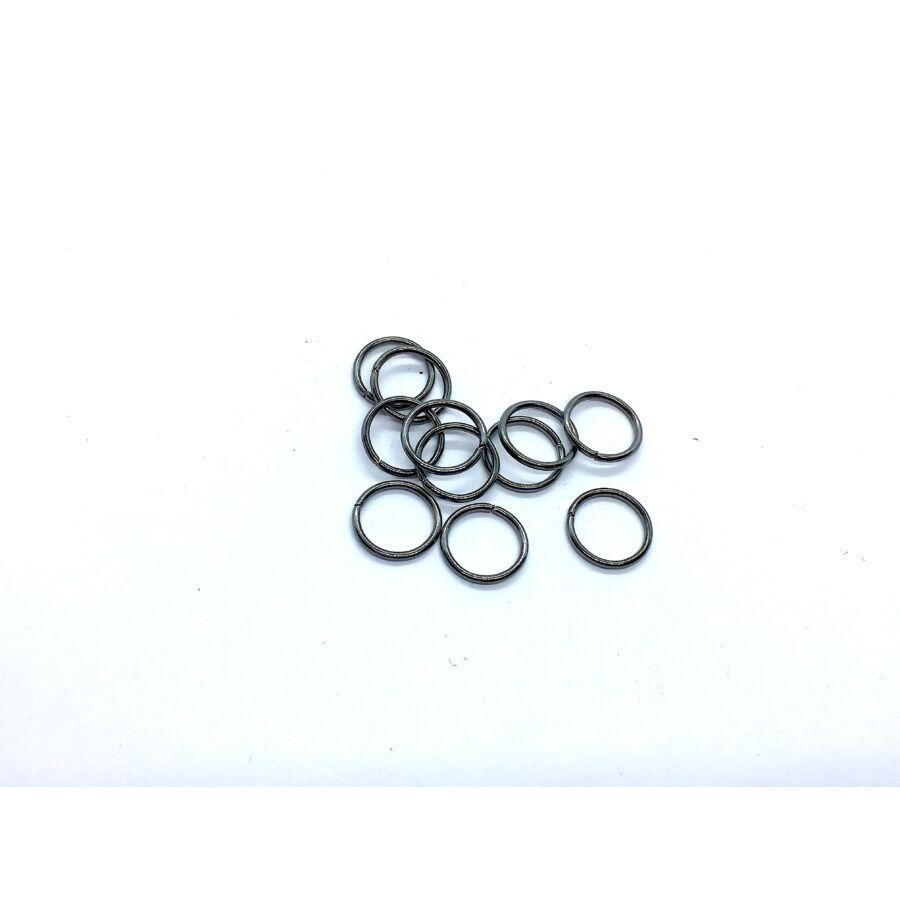 10db fekete színű szimpla vastag szerelőkarika (10mm)