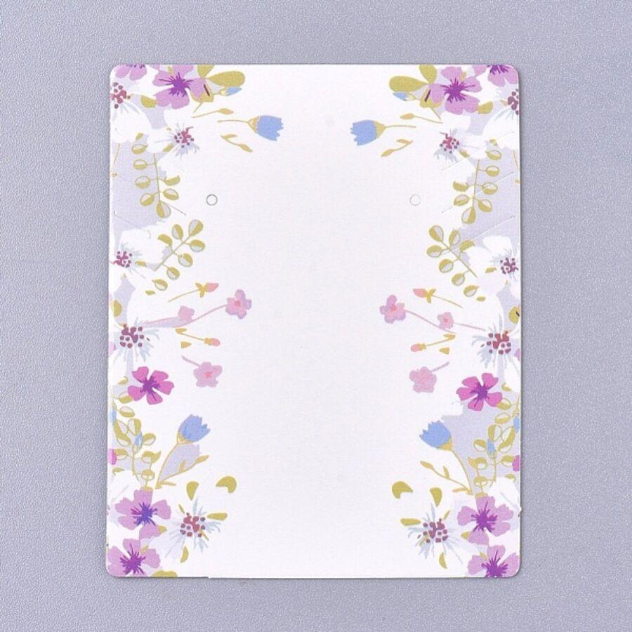 10db Virágos fülbevaló és nyaklánc tartó papír (6,5x5m)