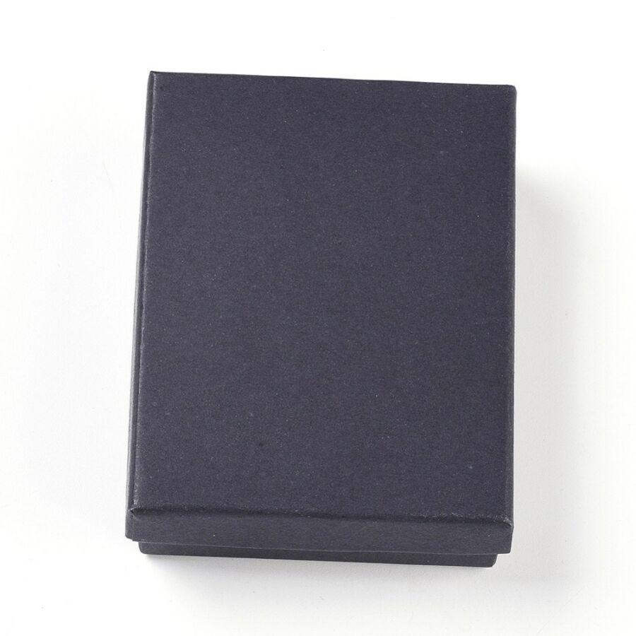 Fekete papír díszdoboz (9x6,9x2,7cm)