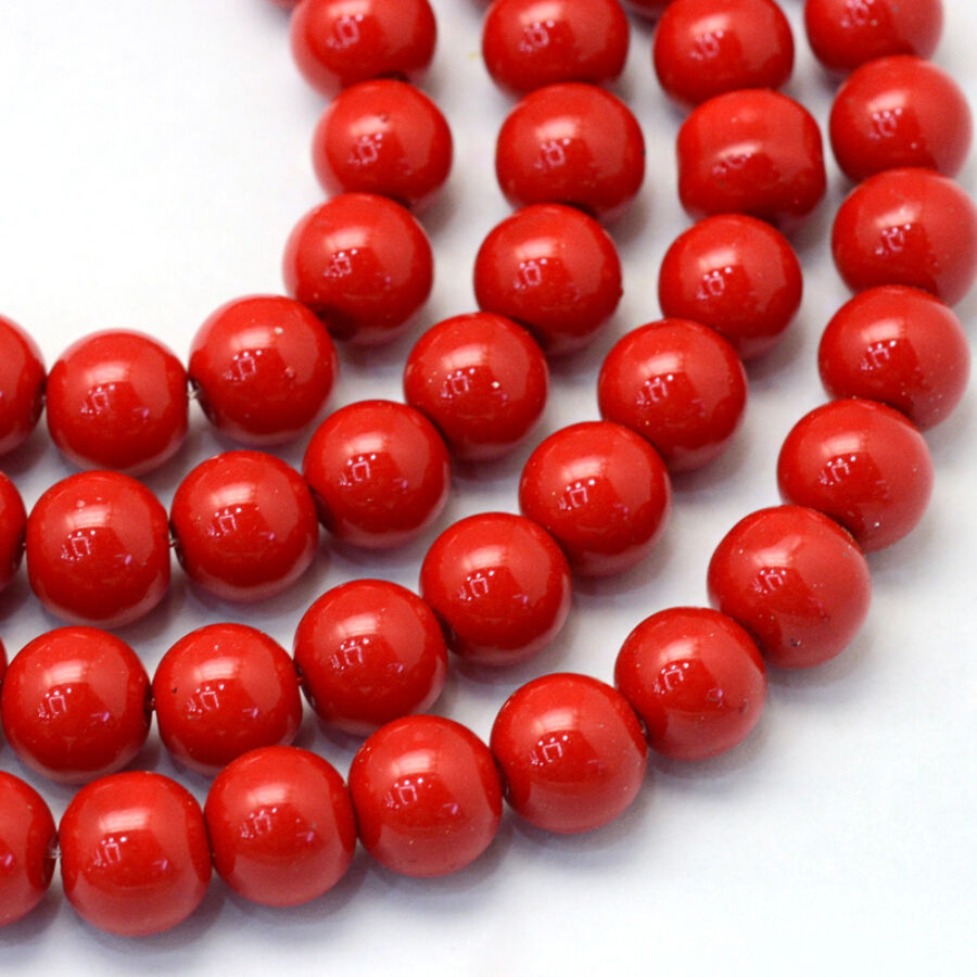 30db Telt piros tekla üveggyöngy (4mm)