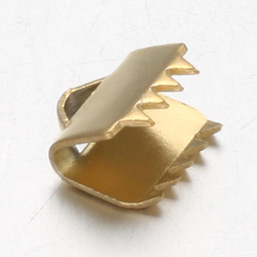 Arany színű nemesacél szalagvégzáró (6mm)
