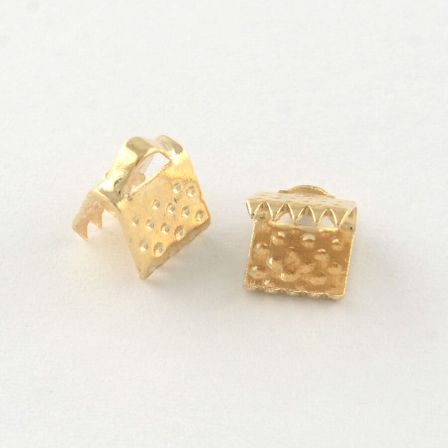10db Világos arany színű szalagvégzáró (6mm)
