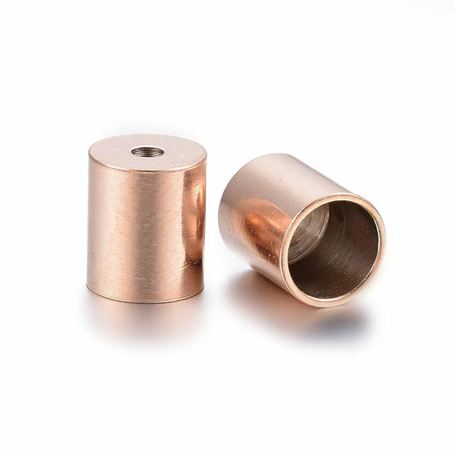 Nemesacél rozé arany színű végzáró (8x7mm)
