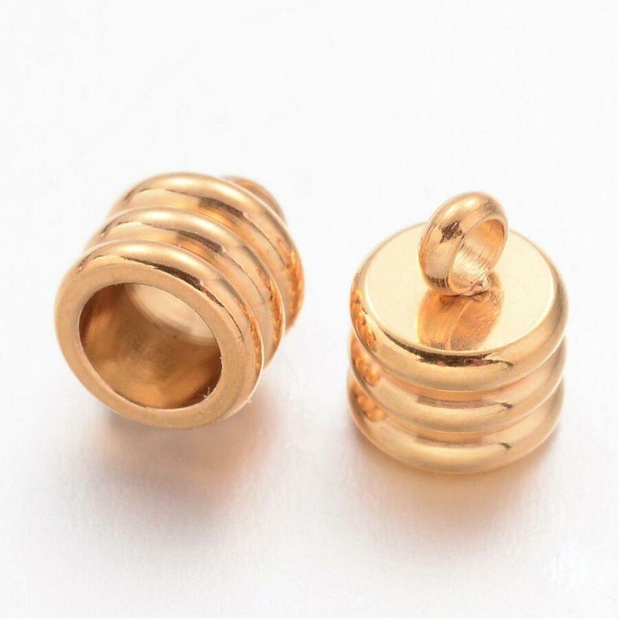 Nemesacél arany színű végzáró (7,5x6mm)