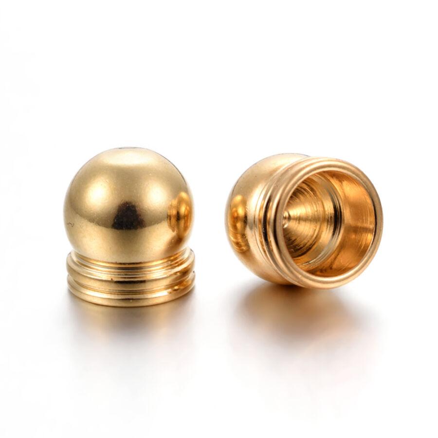 Nemesacél arany színű végzáró (8,5x8mm)