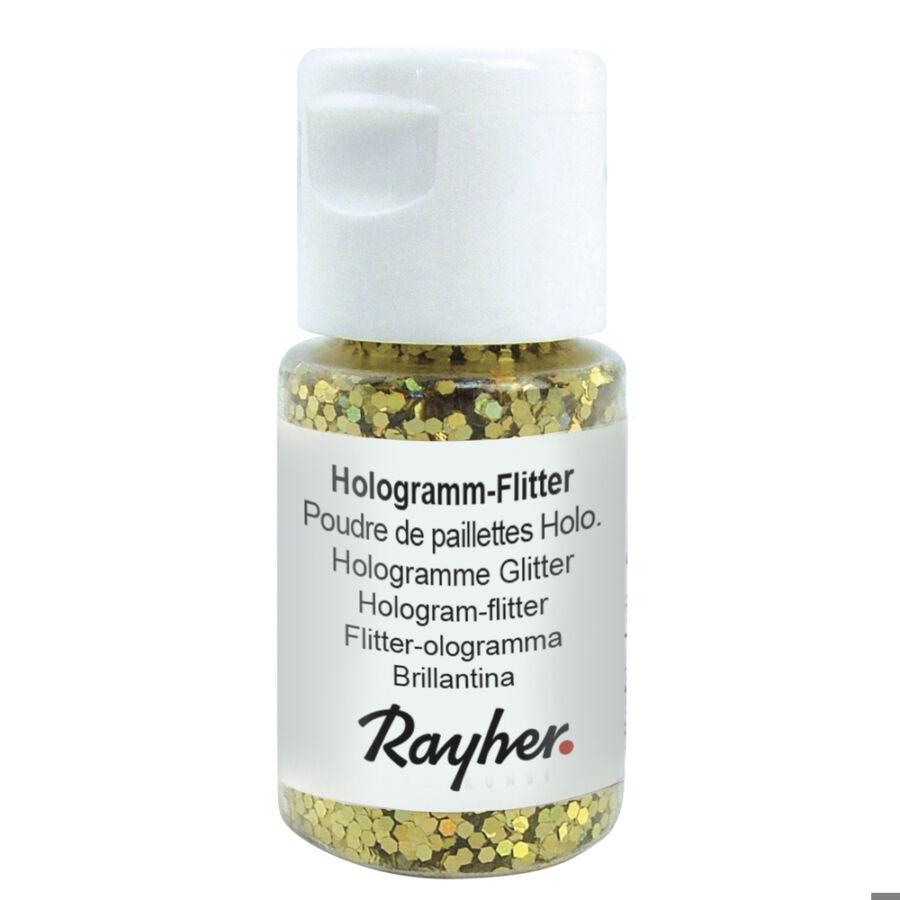 Hologram-Flitter, brill.arany, 10 ml