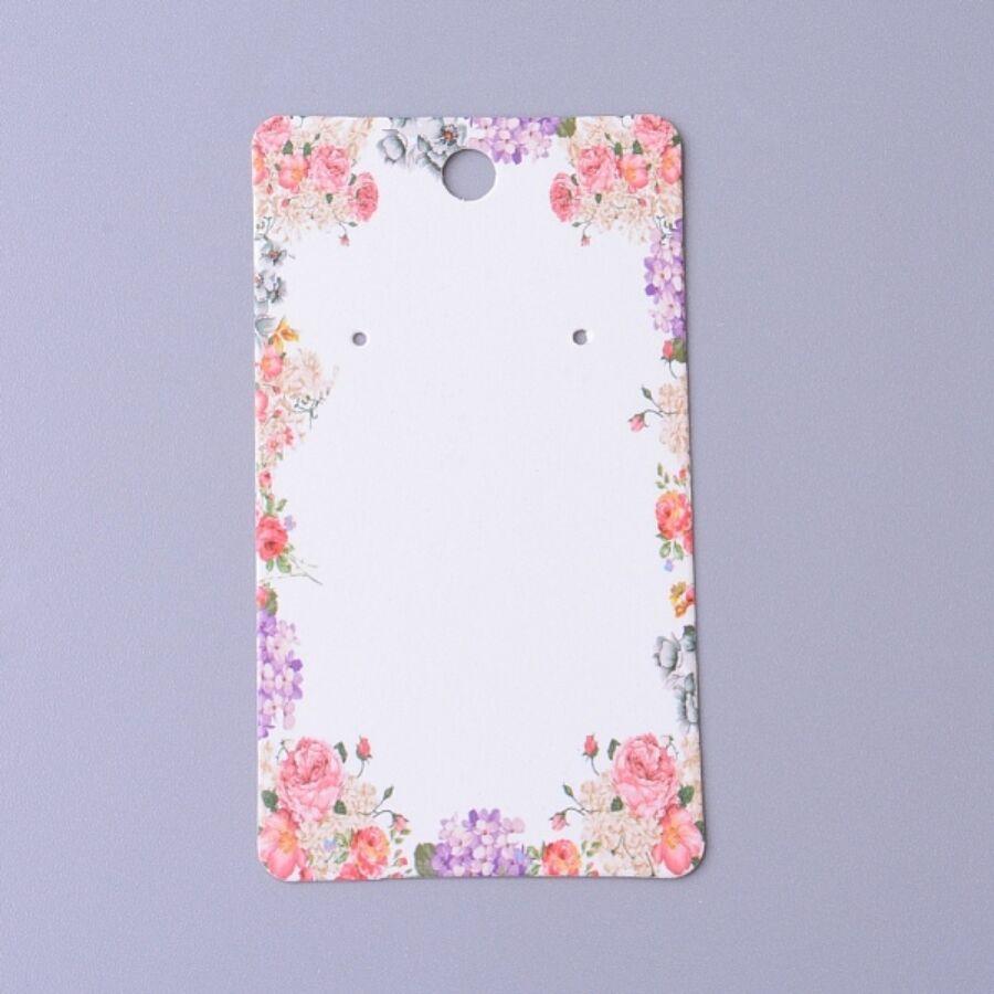 10db Virágos fülbevaló tartó papír (9x5m)