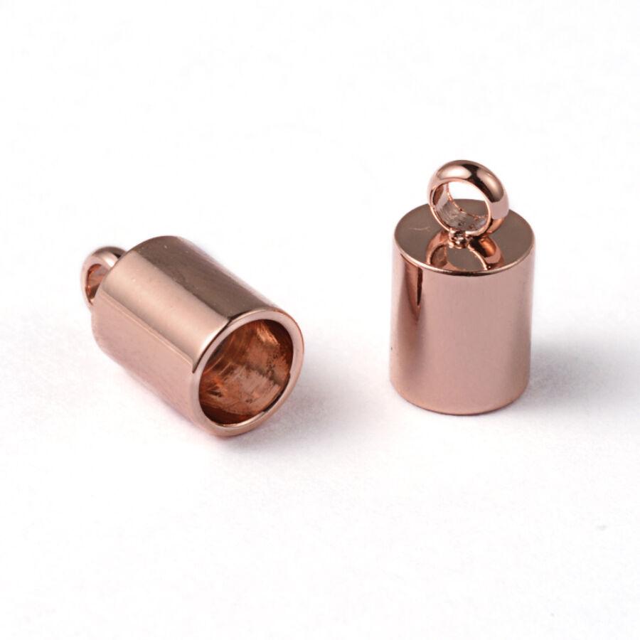 Nemesacél rozé arany színű végzáró (9x5mm)